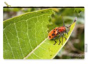 Red Beetle Munching Carry-all Pouch