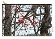 Red Berries White Sky Carry-all Pouch