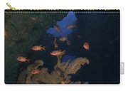 Red Bigeye Fish And Sea Fan In An Carry-all Pouch by Mathieu Meur