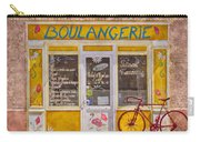 Red Bike At The Boulangerie Carry-all Pouch