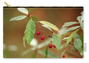 Red Bird Berries Of Fall Carry-all Pouch