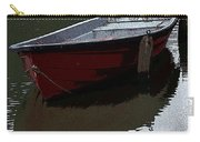 Red Boat In A Canal In The Netherlands Carry-all Pouch