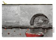 Red Boat In The Harbor At Vernazza Carry-all Pouch