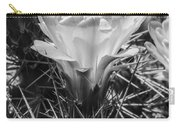 Red Cactus Flower Bw Carry-all Pouch