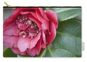 Red Camellia Squared Carry-all Pouch