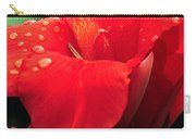 Red Canna With Raindrops Carry-all Pouch