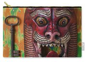 Red Cat Mask Carry-all Pouch