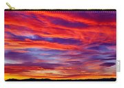 Red Clouds Dawn With Mount Rainier Carry-all Pouch