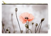 Red Corn Poppy Flowers 01 Carry-all Pouch by Nailia Schwarz