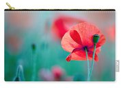 Red Corn Poppy Flowers 04 Carry-all Pouch