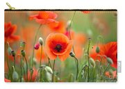 Red Corn Poppy Flowers 05 Carry-all Pouch