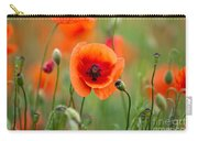 Red Corn Poppy Flowers 07 Carry-all Pouch by Nailia Schwarz