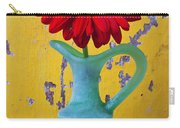 Red Daisy In Grape Vase Carry-all Pouch