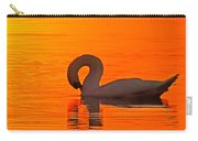 Red Dawn Swan Carry-all Pouch