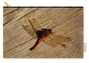 Red Dragon Fly Carry-all Pouch by LeeAnn McLaneGoetz McLaneGoetzStudioLLCcom