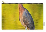 Red Egret In Golden Light Carry-all Pouch