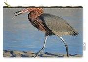 Red Egret With Fish Carry-all Pouch