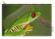 Red-eyed Leaf Frog Carry-all Pouch by Tony Beck