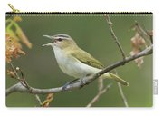 Red-eyed Vireo Vireo Olivaceus Calling Carry-all Pouch