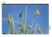 Red Flower Against Blue Sky Carry-all Pouch
