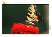 Red Flower And Butterfly Carry-all Pouch
