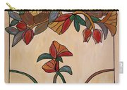 Red Flower Pane Carry-all Pouch by Cynthia Amaral
