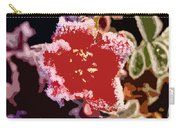 Red Flower With Frost Carry-all Pouch