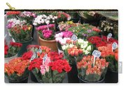 Red Flowers In French Flower Market Carry-all Pouch