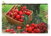 Red Fresh Plums In The Basket Carry-all Pouch