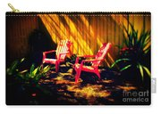 Red Garden Chairs Carry-all Pouch