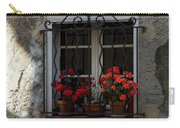 Red Geraniums In Window Carry-all Pouch