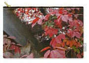 Red Grape Leaves And Beams Carry-all Pouch