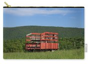 Red Hay Wagon In Green Mountain Field Carry-all Pouch