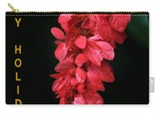 Red Holiday Greeting Card Carry-all Pouch