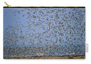 Red Knot Calidris Canutus Flock Flying Carry-all Pouch