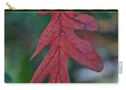 Red Leaf Hanging Carry-all Pouch