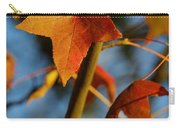 Red Leaves In Winter Sunset Carry-all Pouch