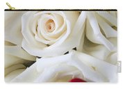 Red Lips And White Roses Carry-all Pouch