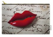 Red Lips On Letter Carry-all Pouch