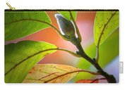 Red Magnolia Leaves With Bud Carry-all Pouch