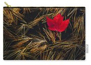 Red Maple Leaf On Pine Needles In Pool Carry-all Pouch