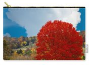 Red Maple White Cloud Carry-all Pouch