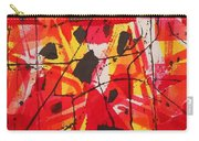 Red Orange Abstract Carry-all Pouch