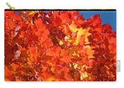 Red Orange Yellow Autumn Leaves Art Prints Vivid Bright Carry-all Pouch