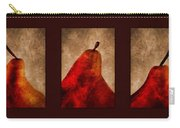 Red Pear Triptych Carry-all Pouch