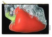 Red Pepper Falling Into Water Carry-all Pouch