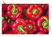 Red Peppers Carry-all Pouch by Joana Kruse