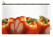 Red Peppers On White Carry-all Pouch