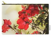 Red Petunias Carry-all Pouch