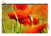 Red Poppy Flowers 01 Carry-all Pouch by Nailia Schwarz